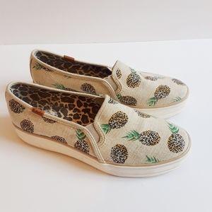 Keds Pineapple Leopard print flats shoes s…